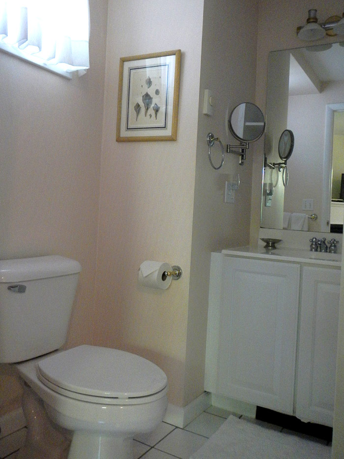 View of Post room bathroom