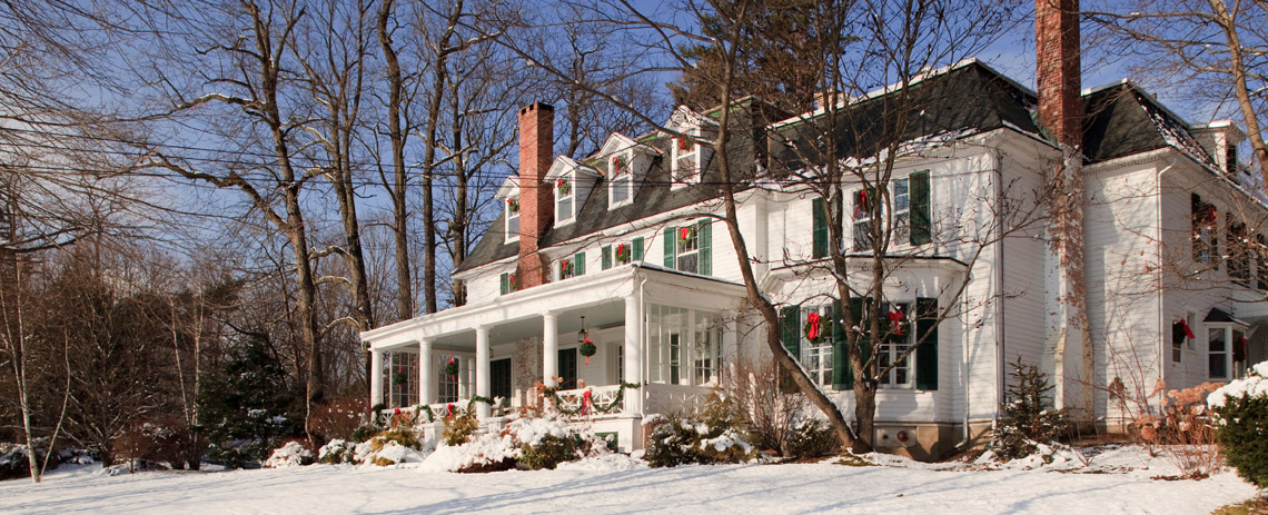 Birchwood Inn in the winter